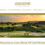 Liam Bon VIP golf break website redesign